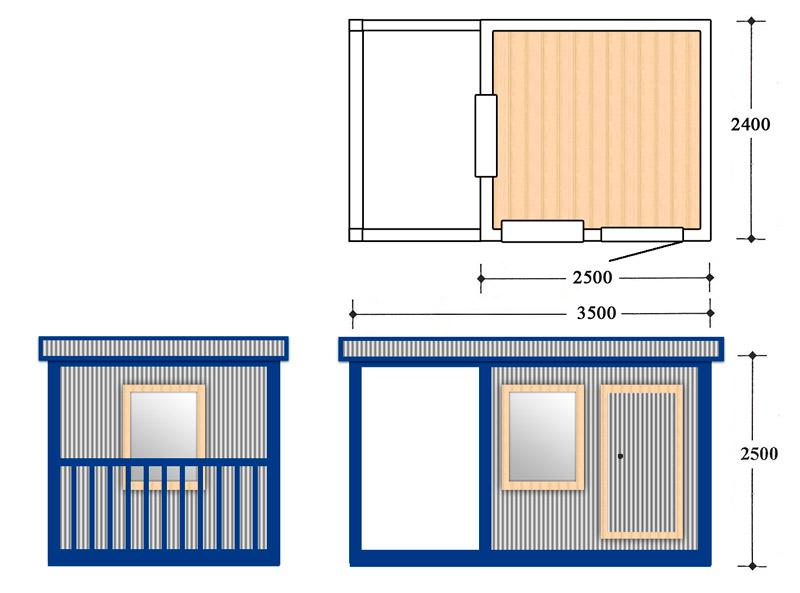 Блок контейнер, Металлические