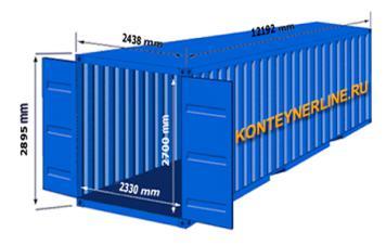 Аренда 40 футового контейнера